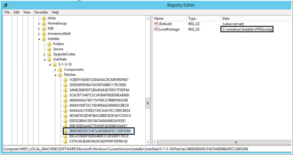 Windows installer patch cache internet explorer
